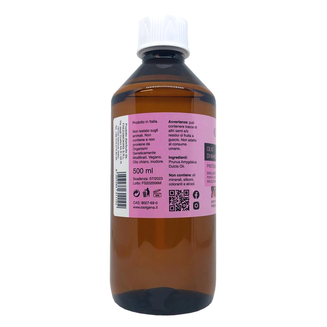 Olio di Mandorle Dolci 100% Puro – 500 ml – Vegan – Senza OGM