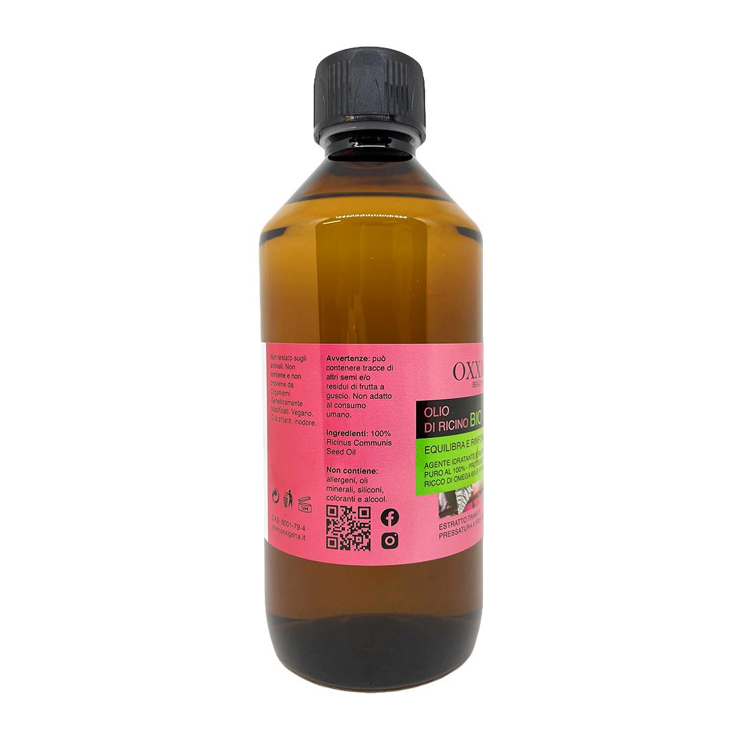 Olio di Ricino Bio – 500 ml – Vegan – Senza OGM
